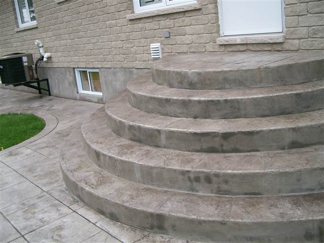 stamped concrete patio with stairs. Fine Patio STAIRS To Stamped Concrete Patio With Stairs